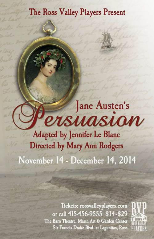 Jane Austen's Persuasion on the Ross Valley Players stage